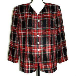 Positive Attitude Womens 20P Jacket Red Plaid